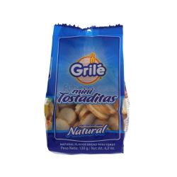 MINI TOSTADITAS NATURAL GRILE (120GR)